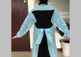 Blue Waterproof Long Sleeve CPE Plastic Aprons Gowns