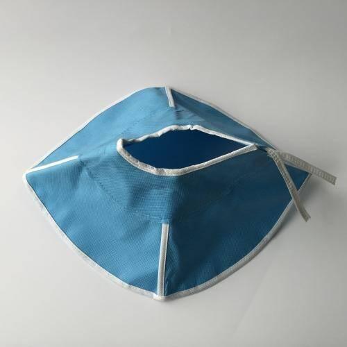 Blue non woven soft collar
