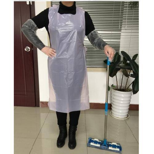 Custom Disposable Chef Cooking Cleaning Plastic Aprons