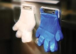 DISPOSABLE BLUE HANG BLOCKED POLY GLOVES