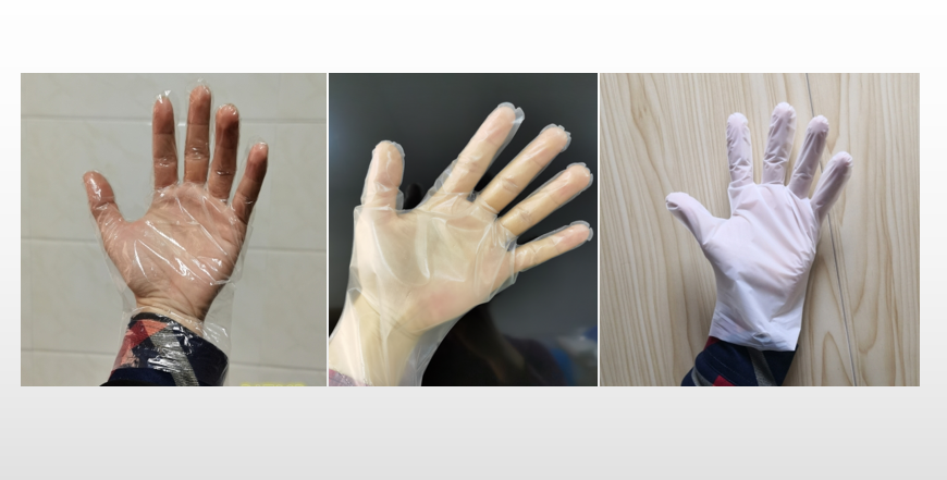 Difference between pe cpe tpe gloves