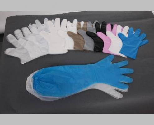 Different Coloured HDPE and LDPE Poly Gloves