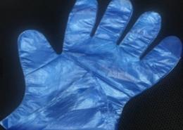 Disposable Blue Plastic washing cooking gloves