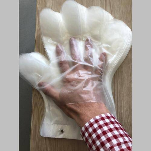 OEM DISPOSABLE EASY WEARING TRANSPARENT PE GLOVES