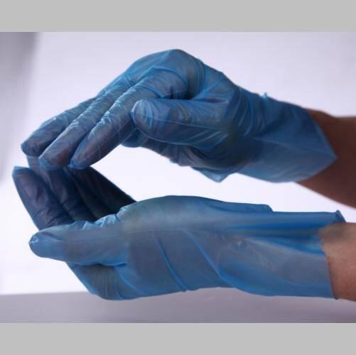OEM Disposable Blue Thick Cast PE Gloves