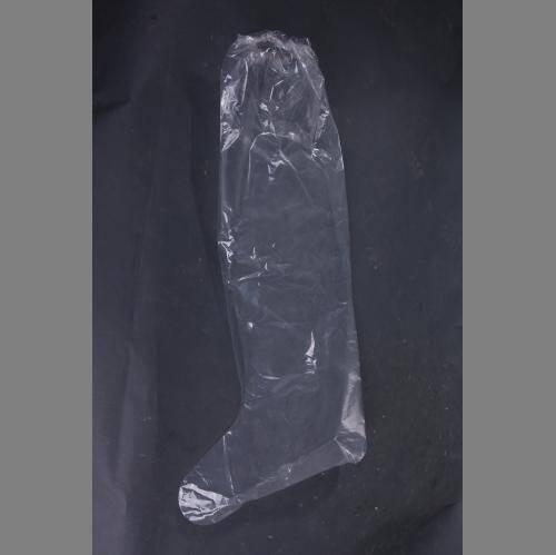 PE Plastic Knee Length Long Shoe Cover Boots