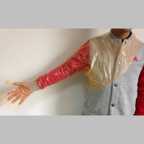 Soft Disposable Examination Long Gloves with Neck Strap