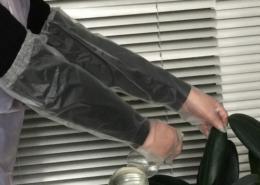 elasticed cpe long gloves