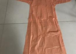 orange pe gown