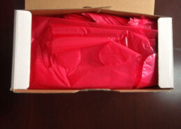 red arm sleeve gloves for veterinary