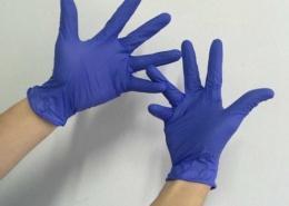 violet blue nitrile glove