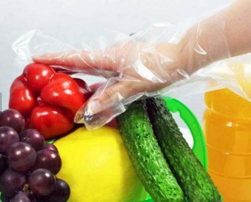 Disposable Clear PE CPE Food Contact gloves
