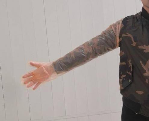 Disposable PE shouder length veterinary hand gloves Rapid AIV Test