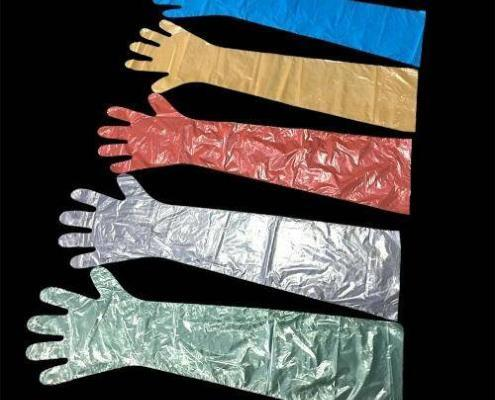 Chinese Arm length disposable veterinary hand examination gloves manufacturer