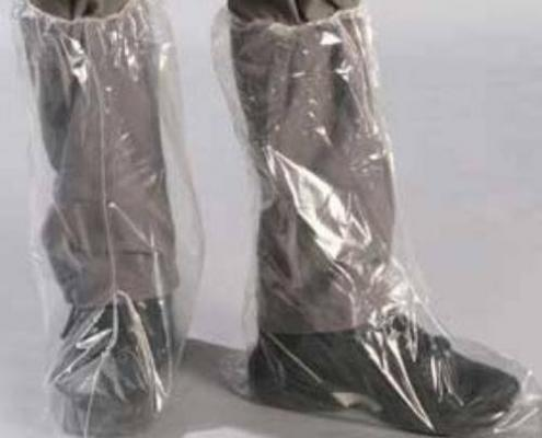 Disposable Elastic Protective PE Boot Cover with elastic closure