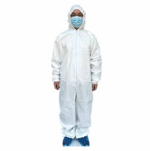 Non woven disposable coverall with water proof and boots elastic cuff