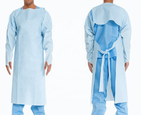 Blue disposable personal water proof protection isolation gowns
