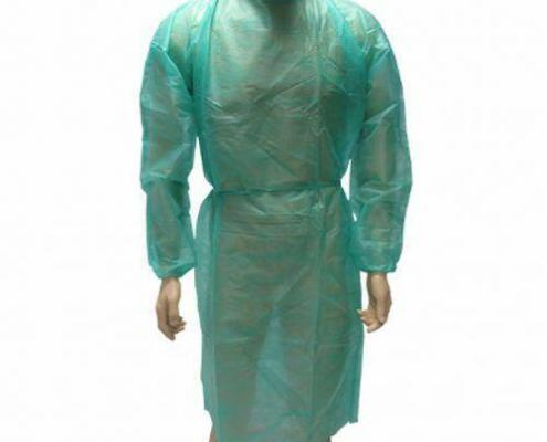 Disposable Medical Supplies Non Woven Isolation Gowns With Long sleeves