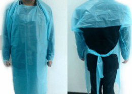 Disposable civil usage dust proof water proof CPE GOWN