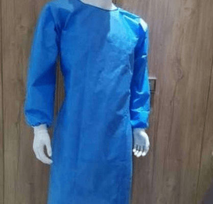 Disposable PP PE Laminated Nonwoven Protective Medical Reinforced Isolation Gown