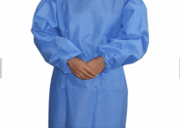 Elastic Closure Disposable Non-woven PE Isolation Gowns proof water manufature