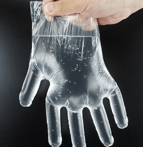 2020 new products disposable plastic cpe polyethylene gloves food contact kitchen gloves