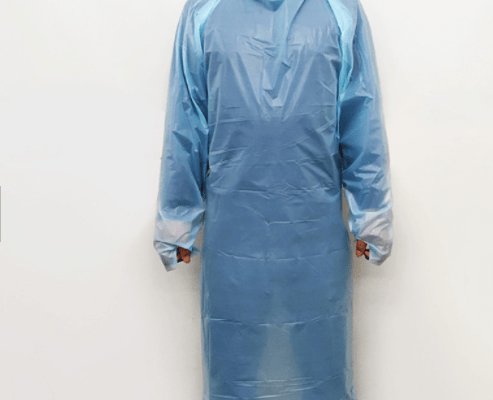 Cheap disposable blue cpe plastic gowns strong water resistance good protection