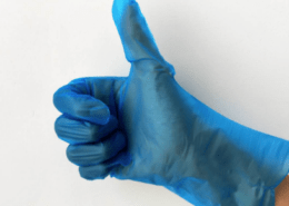 Disposable Plastic Blue Food prepare washing dishes TPE strong elongation fit well Gloves