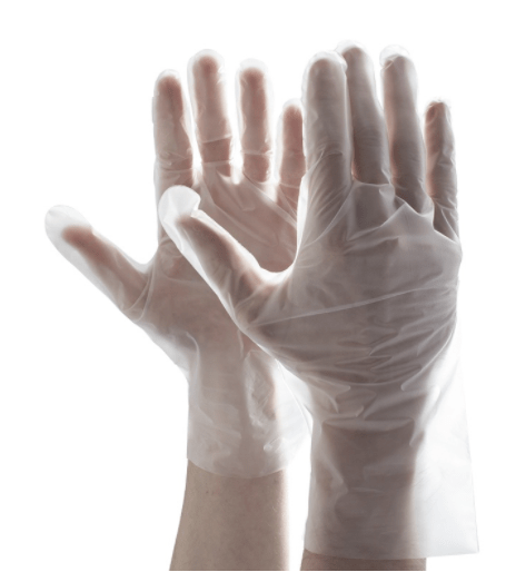 Good hand feeling good stretch disposable waterproof TPE glove