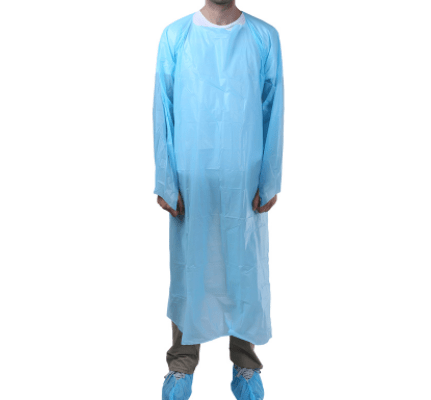 Plastic High Quality Waterproof safty protective Disposable CPE Gown