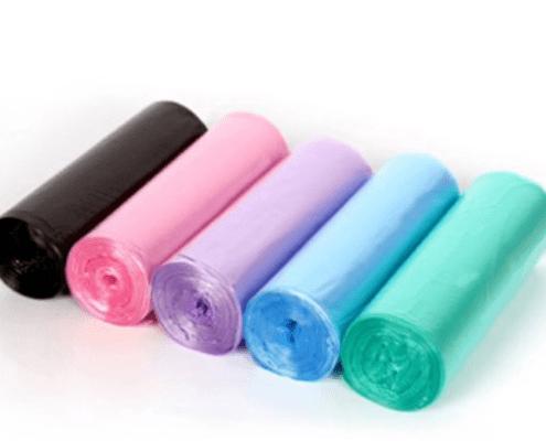 Plastic Trash Garbage Bags on Roll