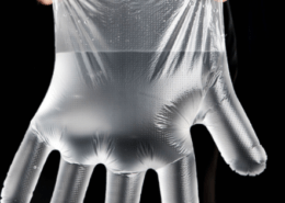 Strong water resistance Disposable Transparent Polyethylene CPE Plastic Gloves