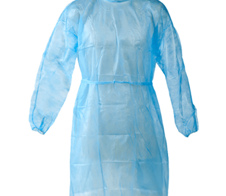 Waterproof Disposable high quality safty protective CPE apron gowns with sleeves