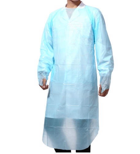 Waterproof High Quality Protective Suit Disposable CPE Gown