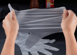 CPE cleaning disposable plastic gloves for outdoor washing