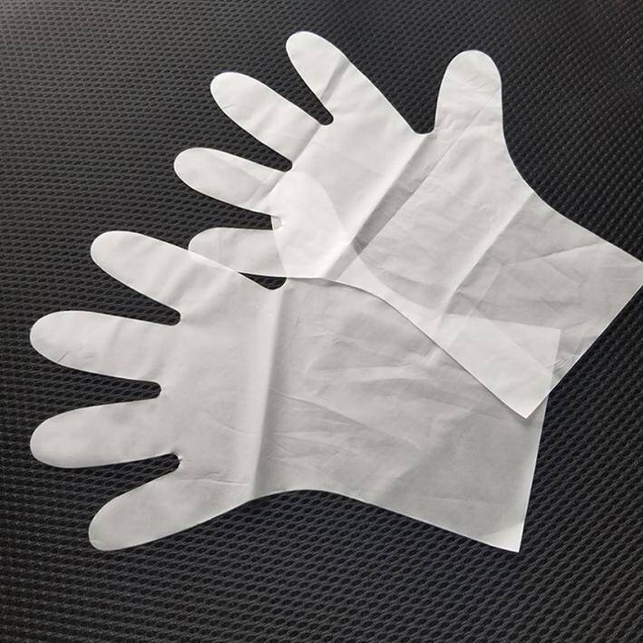 Clear color high quality Disposable waterproof TPE Gloves