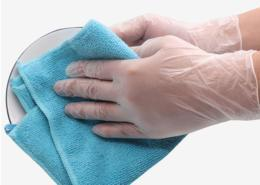 For kitchen cleaning disposable PVC glove