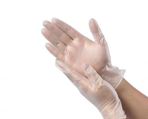 Hand protective Disposable Powder Free PVC Gloves