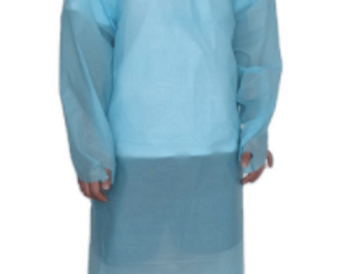 Impervious CPE gown used in Restaurant beauty sal