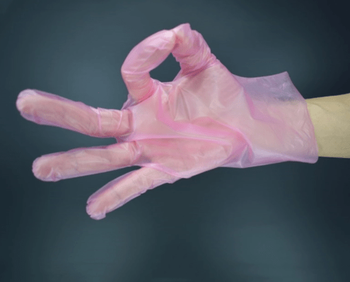 Safety Transparent Disposable TPE Plastic gloves