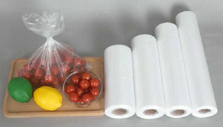 Storage sealed plastic food bags roll