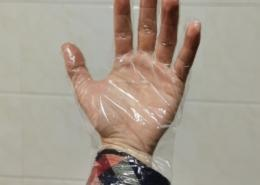 AB open Clear transparent poly glove