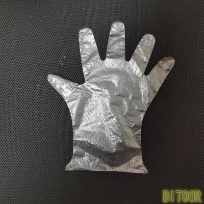 Pure transparent embossed LDPE glove