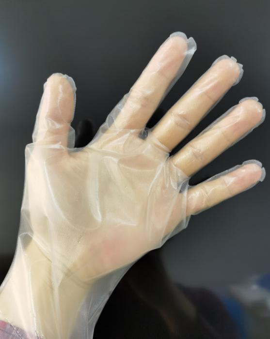 22 super value transparent CPE glove