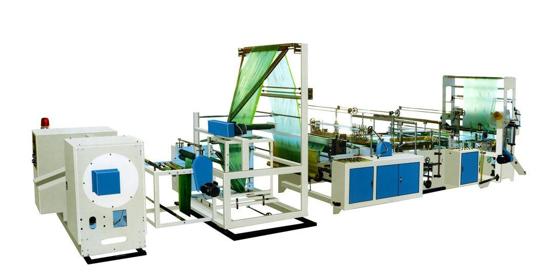 Draw string PE bags on roll making machine