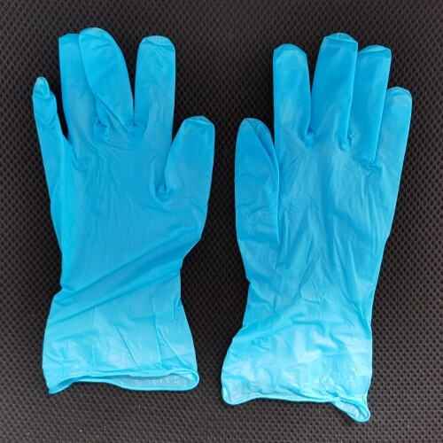 Disposable Powder Free Blue basic nitrile Stretch Vinyl glove