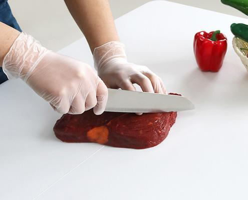 Powder free PVC vinyl gloves for food contact