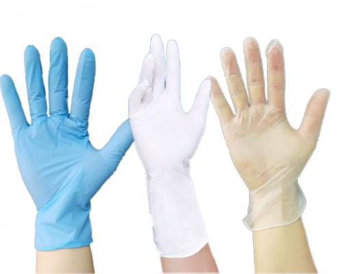 Disposable vinyl nitrile latex gloves