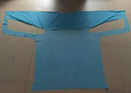 L size disposable reinforced isolation gown