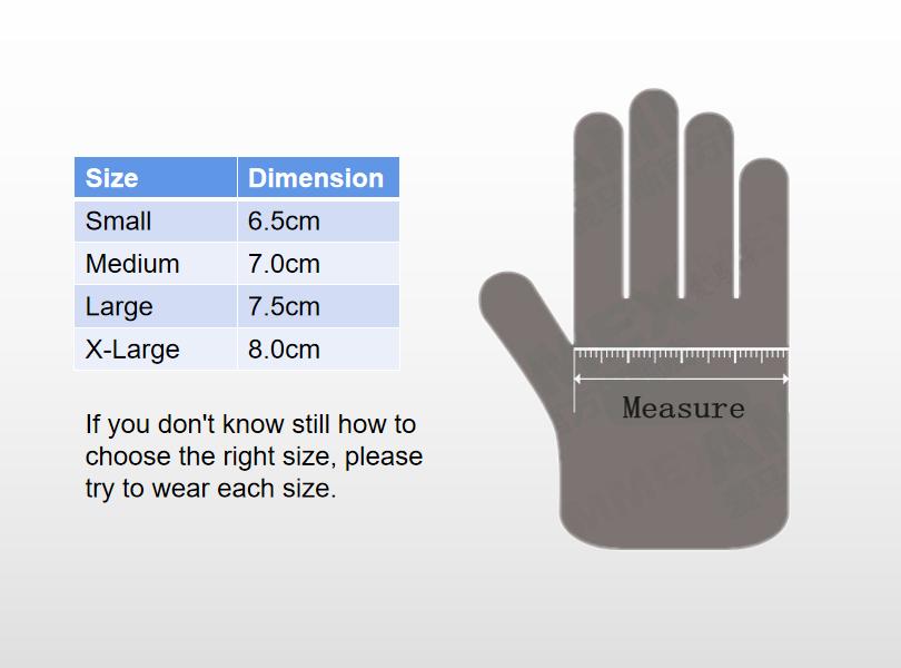 choose your size vinyl glove